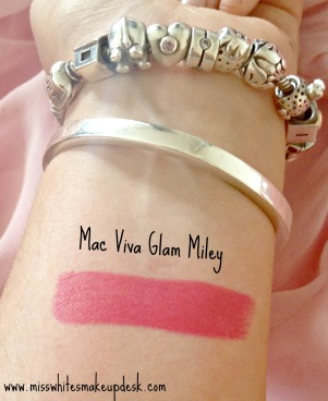 Mac Viva Glam Miley Swatch