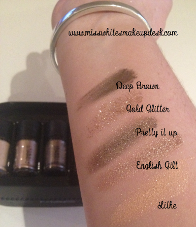 MAC Objects of Affection Beige Pigments swatches
