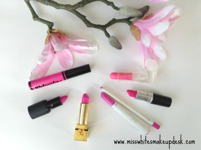 Bright pink Velourlips LUN-DUN YSL #29 Colourpop wifey candy yum yum mac swatches reviews