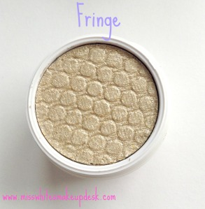 Colourpop review fringe swatch