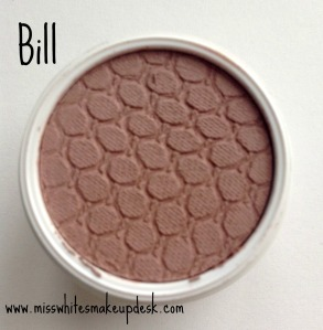 Colourpop review Bill swatch
