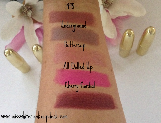 Gerard Cosmetics Swatches 1995 Underground Buttercup Giveaway
