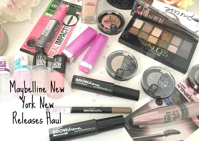 Maybelline New York The Nudes Palette Brow Drama Mascara Lipstick Fit Me Matte+Poreless