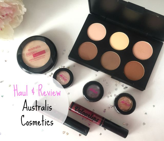 Australis cosmetics haul metallix fresh and flawless contour kit