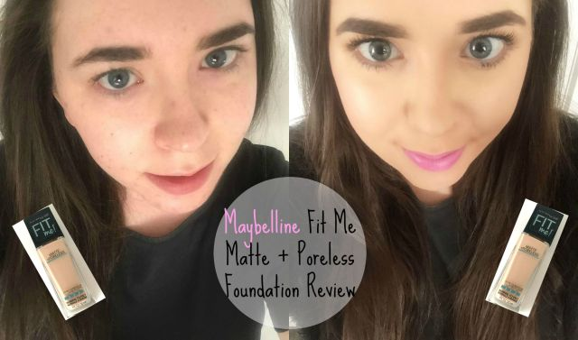 Before After Maybelline Fit Me Matte + Poreless Foundation Review