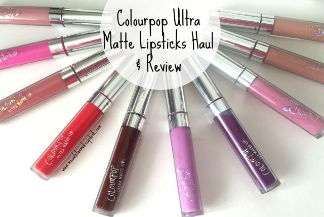 Colourpop Ultra Matte Lip Swatches GiveawayHaul Review