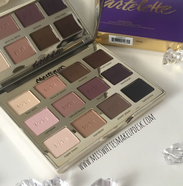 tartelette palette review swatches