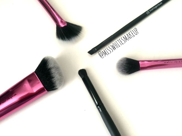 Real Techniques e.l.f. cosmetics makeup brushes