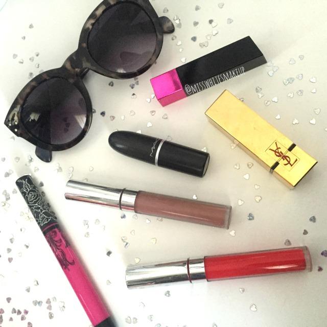 Lipsticks I use Everyday Colourpop Ultra Matte YSL Rouge Pur Couture Mac Kat Von D