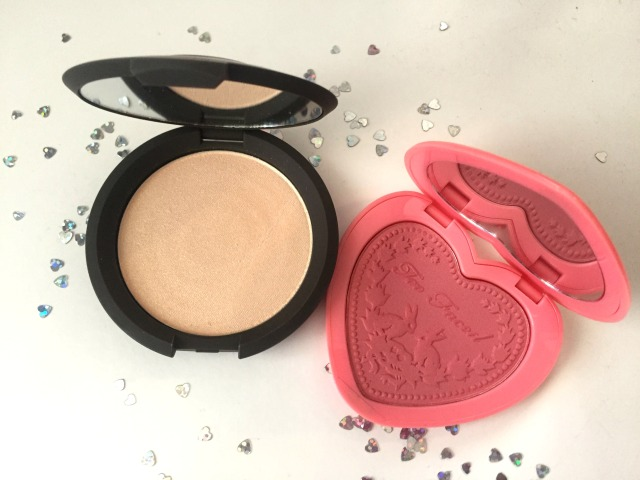 Becca Shimmering Skin Moonstone Too Faced Love Flush