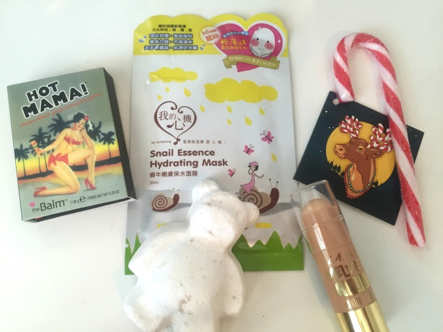 Secret Santa Haul Lush theBalm Hot Mama L.A. Girl Hi-Lite