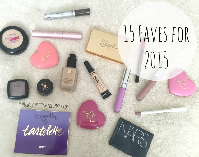 15 Faves for 2015 Miss White's Makeup Desk Tarte LA Girl PRO Conceal Sleek Solstice NARS