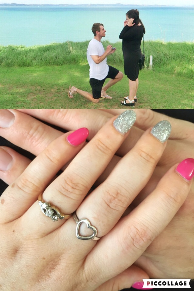 Proposal story engagement ring antique
