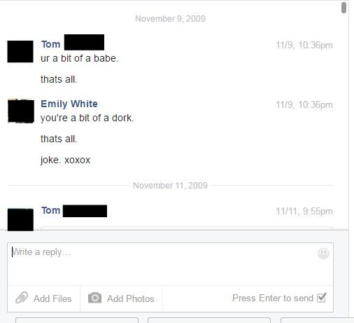 Earliest Facebook Chat