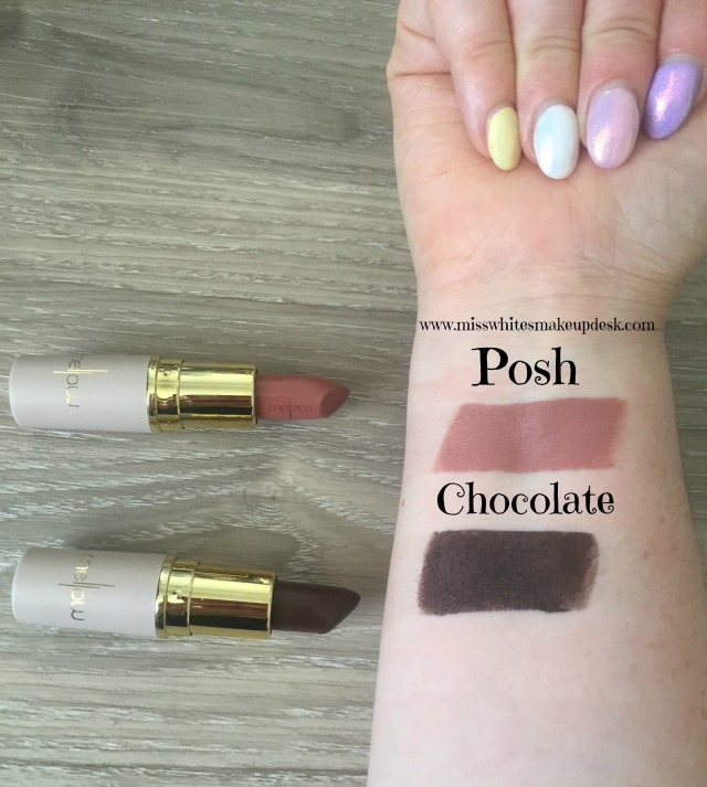 Mellow Cosmetics Matte Lipstick Swatch Posh Chocolate