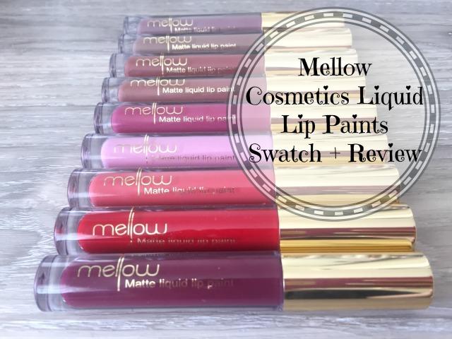 Mellow Cosmetics Matte Liquid Lip Paint Swatches Review