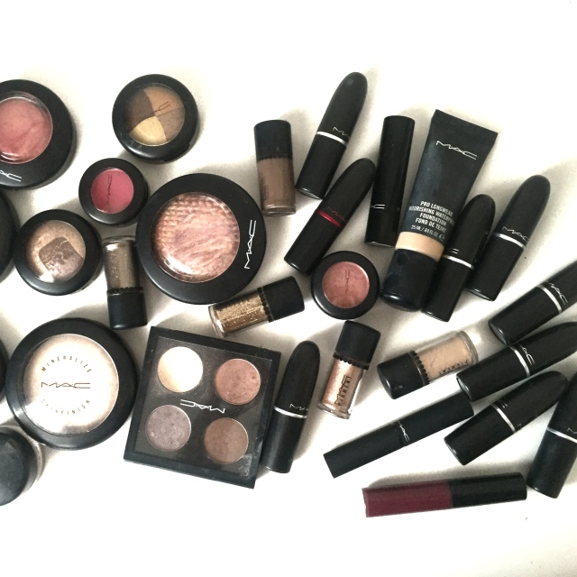 MAC Cosmetics flat lay beauty book makeup artist