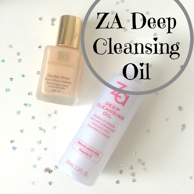 Za Cosmetics Deep Cleansing Oil Estee Lauder Double Wear